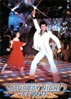 John Travolta in Saturday Night Fever.... such a good movie and sound track.  My oldest brother looked just like John Travolta !