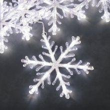 LED sneeuwvlokkensnoer (5 sneeuwvlokken) koel wit