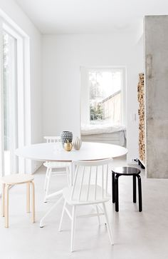 Scandinavian Minimalist in Finland - NordicDesign - Model Home Interior Design Decor, Interior, Modern Dining Room, My Scandinavian Home, Home Decor, House Interior, Scandinavian Interior Design, Interior Design, Home And Living