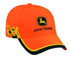 John Deere Blaze Orange Flame Cap