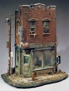 Tim Prythero. We all work so hard to make our projects beautiful and perfect. This artist does his wonderful work on old and decrepit buildings, and they are wonderful!
