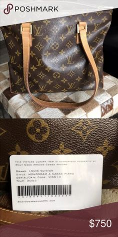 c059b5e009998 Louis Vuitton Cabas Piano 👜 💯 authentic. Purchased from Von Maur last  year. Paid
