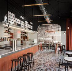 A New Type of Brewery: Birrificio Italiano [Milan] – Trendland Online Magazine Curating the Web since 2006 Brewery Interior, Bar Interior, Interior Design, Interior Sketch, Interior Doors, Italy Restaurant, Restaurant Design, Pizza Restaurant, Restaurant Interiors