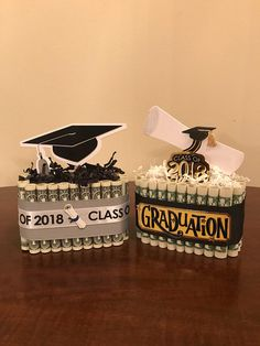 These cakes are made with 25$. There are 11 different topper options. Please be sure to specify which topper you would like before checkout or one will be given at random. All decorative stickers may vary unless there is a specific request. No hot glue was used so that all money Graduation Leis, Graduation Presents, Graduation Party Decor, Graduation Cards, High School Graduation, Grad Parties, Graduation Gifts, College Graduation Cakes, Money Cake