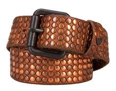 HTC Bronze Studded Leather Belt