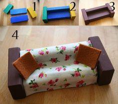 diy, crear muebles para muñecas: