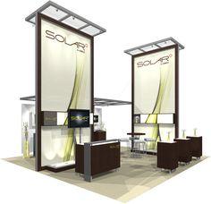 Solar A™ · 20′ × 20′ Trade Show Island Exhibit, $52,999