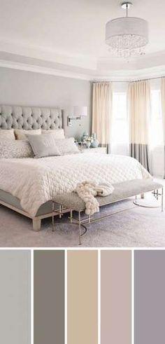 Gray White Beige Neutral Bedroom Color Scheme bedroom design new classic 20 Beautiful Bedroom Color Schemes ( Color Chart Included ) Home Decor Bedroom, Modern Bedroom, Contemporary Bedroom, Master Bedrooms, Bedroom Red, Beige Bedrooms, Gray Bedroom Walls, Girls Bedroom, Neutral Bedrooms