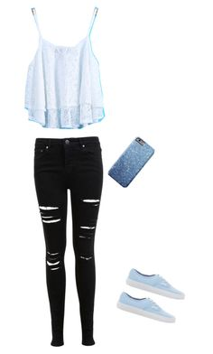 """Cute summer night out outfit"" by sofiacarmenx ❤ liked on Polyvore featuring Miss Selfridge and Vans"