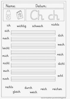 Lernstübchen: Arbeitsblätter zum Ch - ch