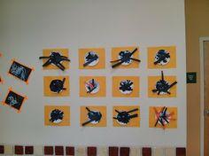 Fall 2013 Art Show @ Sandcastle Preschool; spiders