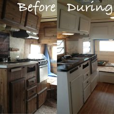 The camp trailer Tyler & I have been remodeling!