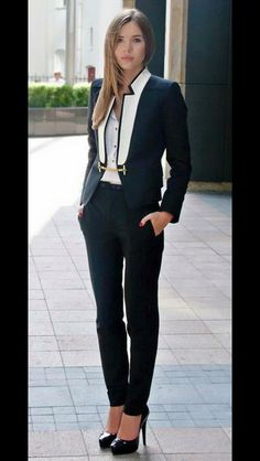 32103ee086 15 Appropriate Monochrome Business Suit For Daily Working Hour - Fazhion
