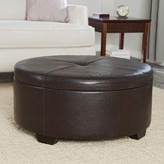 Have to have it. Belham Living Corbett Coffee Table Storage Ottoman - Round $274.98