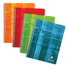 Clairefontaine Classic Notebooks Side Wirebound 6 ¾ x 8 ⅝ Graph Assorted Covers 60 sheets
