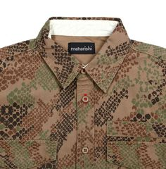 Maharishi Snake print woodland camo BDU shirt