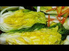 백김치 만드는 법 아삭하고 시원한 백김치 쉽게 담그는 법 (백김치 국물 레시피) - YouTube Korean Food, Kimchi, Cabbage, Chicken, Meat, Vegetables, Cooking, Recipes, Water