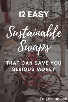 12 Easy Sustainable swaps that can save you serious money! 12 Easy Sustainable swaps th