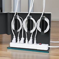 Humm, great idea for all of those under desk cords!  I hate that mess!