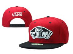 VANS Snapback Hats OFF THE Wall Hats Reds/Black 027! Only $8.90USD