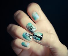 Pretty tree nails. The tourtial is in french though.