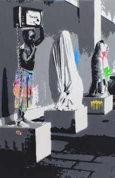 """KURAR street artist artwork named """" VESTIGE """" more details on ; kurar.fr/#home"""