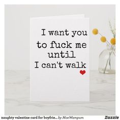 Choose your favorite Naughty Valentine For Boyfriend design from our huge selection of cards or create your own today! Qoutes For Him, Unique Valentines Day Ideas, Truth Or Dare Questions, Naughty Valentines, Funny Anniversary Cards, Cards For Boyfriend, Best Love Quotes, Love Cards, Relationship Quotes