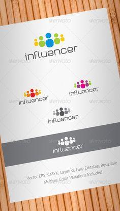 Social Media Influencer Logo Design Template Vector #logotype Download it here: http://graphicriver.net/item/social-media-influencer-logo-template/708253?s_rank=56?ref=nexion