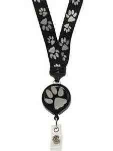 Dog lanyard with badge reel
