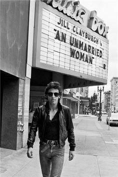 Bruce Springsteen Walking by Marquee, 1978 | Lynn Goldsmith