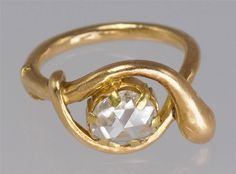 Georgian 18ct Gold Rose Cut Diamond Solitaire Coiled Snake/Serpent Ring ca.1820