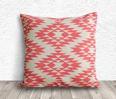 Pillow Cover, Aztec Pillow Cover, Tribal 18x18 - Printed Tribal - 036