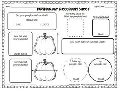 FREE pumpkin day recording page!
