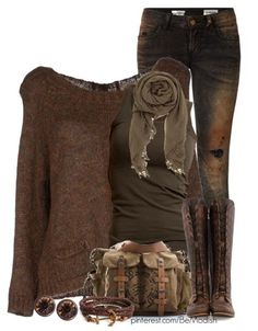 2015 winter outfits | Vintage Brown Fall Winter Outfit Ideally 2015