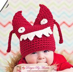 Crochet Monster Hat Pattern Crochet Baby Pattern Easy by Mamta