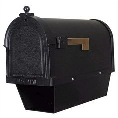 Special Lite Products Berkshire Curbside Post Mounted Mailbox with Paper Tube
