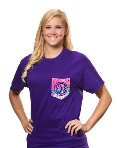 Tri Sigma Lilly Frocket T-shirt. www.sassysorority.com