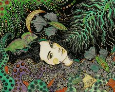 Patterned illustrations by Daria Hlazatova - Ego - AlterEgo Art And Illustration, Pattern Illustration, Animal Illustrations, Illustrations Posters, Psychedelic Art, Art Magique, Art Plastique, Art Inspo, Pinup
