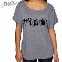 c01384a16 Yogaholic Off shoulder Womens shirt, Yoga Shirt, Women's Yoga shirt