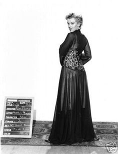 """Marilyn Monroe, wardrobe test for """"Don't Bother To Knock"""", 1952."""