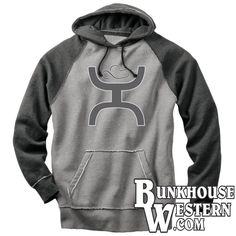 #GetYourHooey, Rock Gray Hoodie, Hooey Sweatshirt, Rodeo, Cowboy Clothing, Underarmor, Tie Down Calf Roping, Team Roping, National High School Rodeo, $69.99, ONLY AVAILABLE @ http://www.bunkhousewestern.com/RCK_p/rock.htm