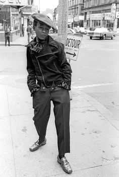 Wanna be pimp, 10 am, Washington St. Boston, MA. 1968 Photo by Jerry Berndt