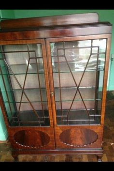 Antique Glass Cabinet | eBay