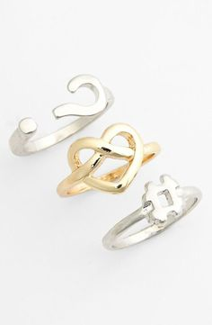 Express yourself with accessories! Stackable rings by Leith.