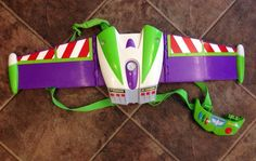 Toy Story Buzz Lightyear Jetpack Wings Toddler Boys Costume Pull Out Wings #Pixar