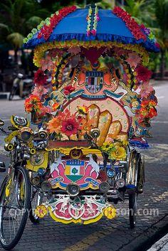 Melaka Malaysia. Bicycle rickshaw.