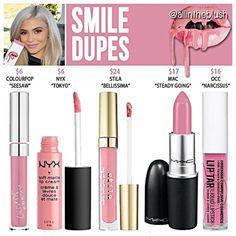 Kylie Jenner lip kit dupes for Smile