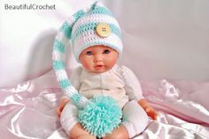 Zipfelmütze baby hat elf Babyfotographie Baby Foto