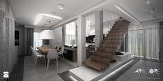 nowoczesny projekt schodów w salonie Schody - zdjęcie od ArtCore Design