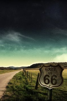 Route 66 was a very desolate road that many took to California like the Joads. Hoping that new places would strike new dreams.